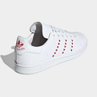 アディダス(adidas)の24cm ハート スタンスミス ホワイト レッド(スニーカー)