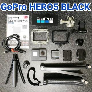 ゴープロ(GoPro)の【お得セット】GoPro HERO5  BLACK✨外箱付(ビデオカメラ)