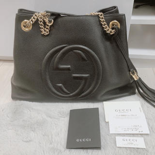 Gucci - GUCCI バッグ ソーホー チェーンショルダーバッグ 美品