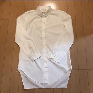 カルヴェン(CARVEN)のCARVEN カルヴェン   ハート襟 白シャツ(シャツ/ブラウス(長袖/七分))