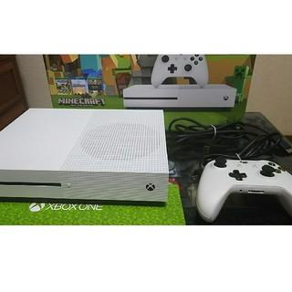 エックスボックス(Xbox)のxbox one S 500GB マインクラフトedition 中古美品(家庭用ゲーム機本体)