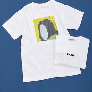 nano・universe - ナノユニバース CYAN ROOO シアン コラボ バックプリント Tシャツ