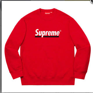 シュプリーム(Supreme)のSupreme Underline Crewneck Red Large(スウェット)