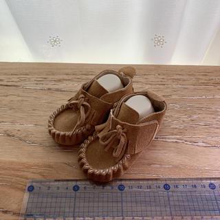 ベビー シューズ モカシン ブーツ 12センチ 未使用 キャメル 茶色 12㎝(ブーツ)