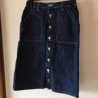 スタディオクリップ(STUDIO CLIP)のデニム台形スカート(ひざ丈スカート)