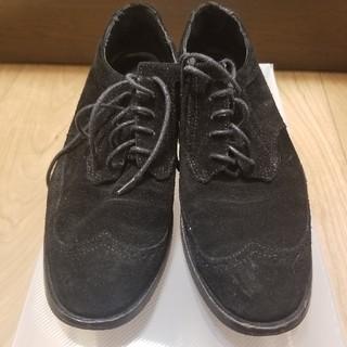 ザラ(ZARA)のZARA 黒スウェード靴(ローファー/革靴)