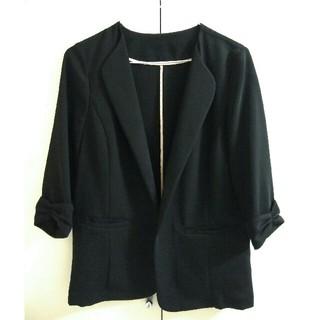 Apuweiser-riche - アプワイザーリッシェ❤洗える七分袖ゆるジャケット ブラック