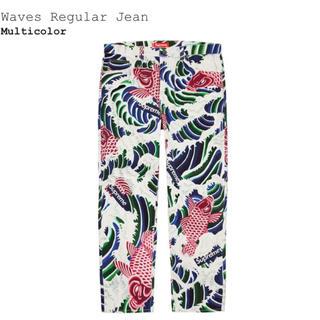 シュプリーム(Supreme)の【34】Supreme Waves Regular Jean(デニム/ジーンズ)