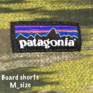 パタゴニア(patagonia)の【patagonia】カモ柄ボードショーツ@Mサイズ(水着)