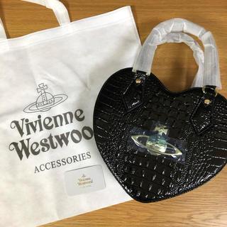 Vivienne Westwood - ⭐️新品⭐️ ヴィヴィアンウエストウッド バッグ クロコ ハート型 ブラック