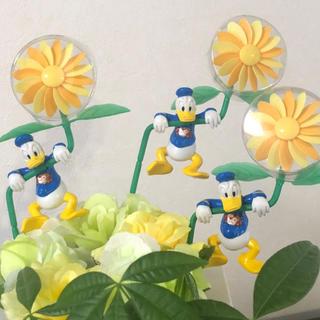 Disney - ドナルドダック フラワーピック 3本セット