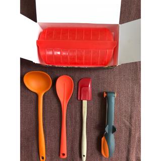 ルクルーゼ(LE CREUSET)のシリコン 調理器具 スチームケース お玉 トング セット(調理道具/製菓道具)