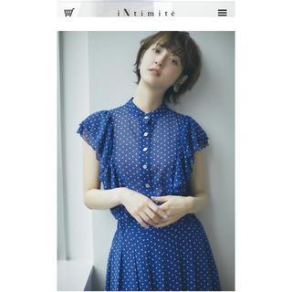 IENA - iNtimite アンティミテ ドットシャツスカート 2019esummer