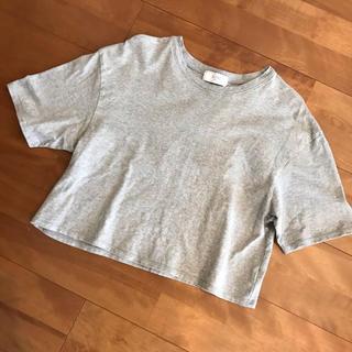 IENA SLOBE - IENA slobe グレー 半袖Tシャツ