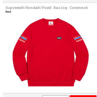 シュプリーム(Supreme)のSupreme Honda Fox Racing Crewneck Red M(スウェット)