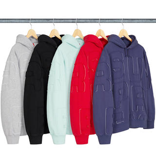 Supreme - supreme Cutout Letters Hooded Sweatshirt