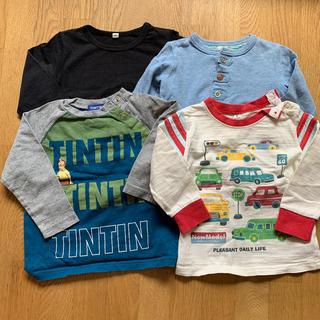 キムラタン(キムラタン)の90サイズ ロンT 4枚セット(Tシャツ/カットソー)
