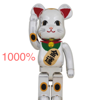 MEDICOM TOY - BE@RBRICK 招き猫 銀メッキ 弐 1000%