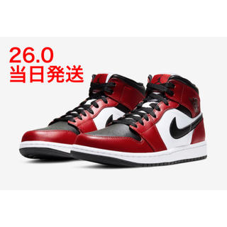 NIKE - NIKE AJ1 MID CHICAGO BLACK TOE 26.0cm