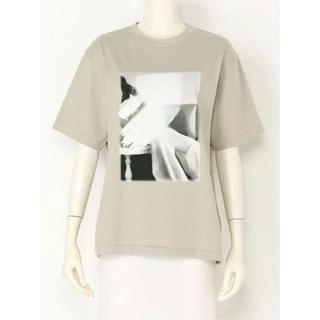 Mila Owen - 在庫二枚!!新品!Mila OwenフォトプリントTシャツ 0 ベージュ