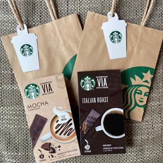 Starbucks Coffee - スタバVIA イタリアンロースト&モカ