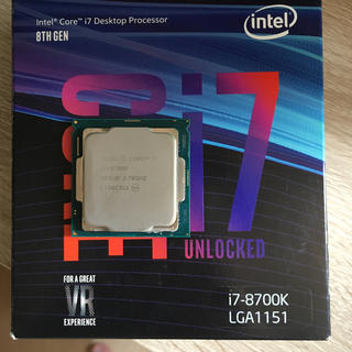 インテレクション(INTELECTION)のインテル Core I7-8700k(PCパーツ)