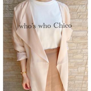 フーズフーチコ(who's who Chico)の新品 who's who Chico フーズフーチコ 薄手 アウター ジャケット(ノーカラージャケット)