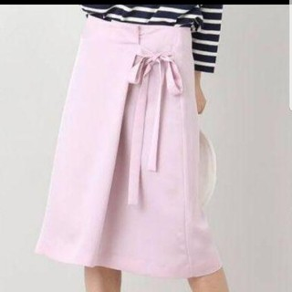イエナ(IENA)のIENA サテンラップスカート(ひざ丈スカート)