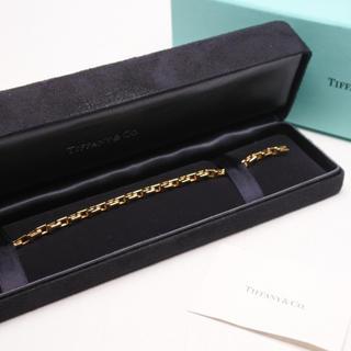 Tiffany & Co. - TIFFANY ティファニー Tナロー チェーンブレスレット AU750 YG