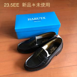 ハルタ(HARUTA)のHARUTA ローファー黒✴️新品✴️23.5EE✴️日本製(ローファー/革靴)