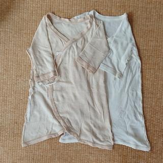 ムジルシリョウヒン(MUJI (無印良品))の無印良品   新生児 コンビ肌着 2枚セット(肌着/下着)