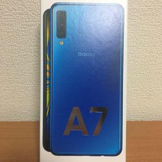 Galaxy - 新品未開封 GALAXY A7 SIMフリー ブルー 64G
