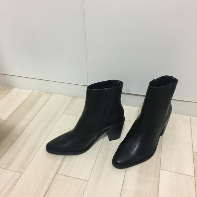 asos(エイソス)の【メンズサイズ】ヒールブーツ サイドジップ 黒 uk8 メンズの靴/シューズ(ブーツ)の商品写真