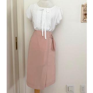 エマジェイム(EMMAJAMES)のESPRITMUR 新品未使用タグ付き フォーマル くすみピンク タイトスカート(ひざ丈スカート)