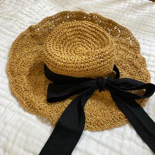 フラワー(flower)のflower 麦わら帽子 リボンハット(麦わら帽子/ストローハット)