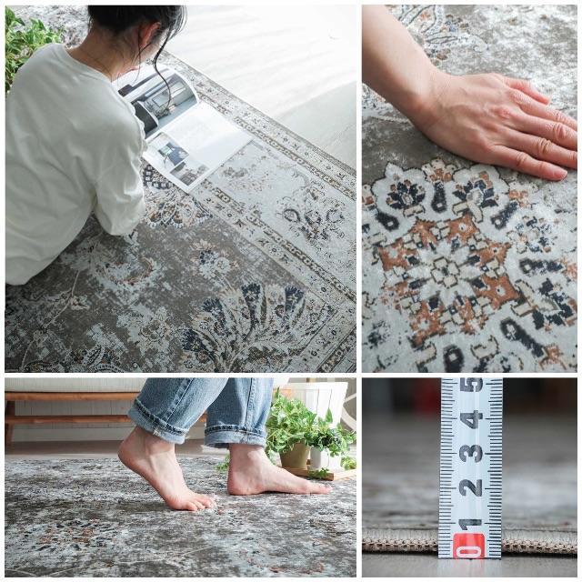unico(ウニコ)の【送料込み】ペルシャ絨毯風カーペット ラグ インテリア/住まい/日用品のラグ/カーペット/マット(ラグ)の商品写真