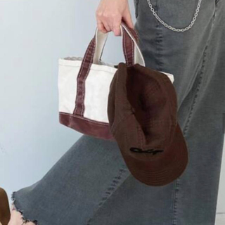 L'Appartement DEUXIEME CLASSE - アパルトモンL.L.Bean Canvas tote bag miniブラウン