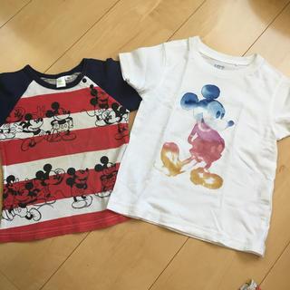 ディズニー(Disney)のミッキー  半袖 Tシャツ 90cm 100cm 2枚セット(Tシャツ/カットソー)