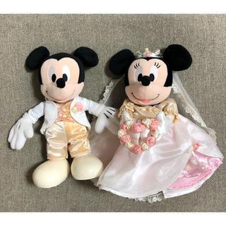 ディズニー(Disney)のミッキー&ミニー ウェディングドール(キャラクターグッズ)