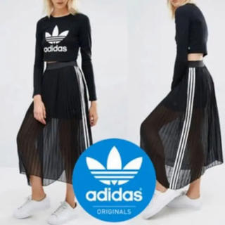 アディダス(adidas)のadidas originals ロング プリーツスカート(ロングスカート)