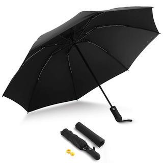 折りたたみ傘 ワンタッチ 自動開閉  耐強風 超撥水  二重構造 傘カバー付き (傘)