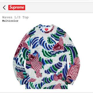 シュプリーム(Supreme)のWaves L/S Top M 長袖 ロンT シュプリーム 鯉(Tシャツ/カットソー(七分/長袖))