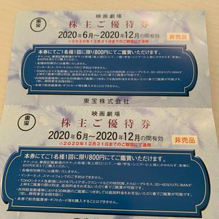 【匿名配送】東宝 株主優待券 4枚(その他)