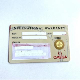 オメガ(OMEGA)のオメガ メンズ 時計 ギャランティーカード 付属品(その他)