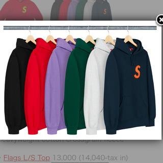 シュプリーム(Supreme)のSupreme S Logo Hooded Sweatshirt Black L(パーカー)