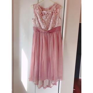 AIMER - Dorry Doll 刺繍ワンピース ドレス ピンク 結婚式 ドーリードール