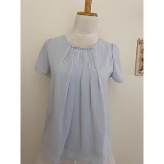 エマジェイム(EMMAJAMES)のEMMAJAMES 新品未使用タグ付き 水色 半袖ブラウス(シャツ/ブラウス(半袖/袖なし))