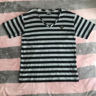 ピーピーエフエム(PPFM)のメンズ ボーダーT(Tシャツ/カットソー(半袖/袖なし))