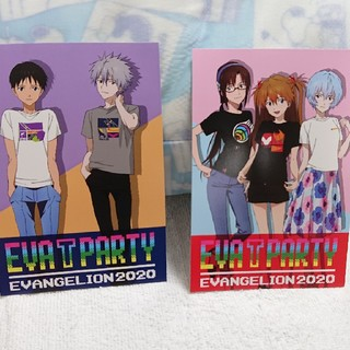 EVANGELION EVA T PARTY ポストカード2枚(写真/ポストカード)