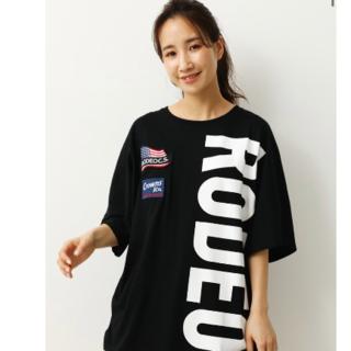 RODEO CROWNS WIDE BOWL - ロデオクラウンズ W BIG LOGO Tシャツ ブラック